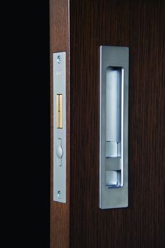 Halliday & Baillie flush pull & sliding door lock    Making pocket doors a little less shitty | A House By The Park