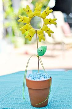 Easter Table Center Peep. Fun craft with Easter Candy!