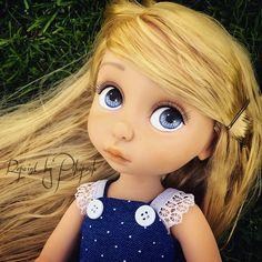 Rapunzel Repaint animator tangled stars in eyes Repaint by Pikipook raiponce custom animator disney doll poupée ooak