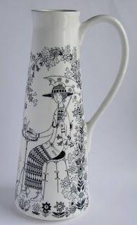 Onni - Retro & rariteter: Mera Arabia; Emilia och Pastoraali Finland, Pottery, Retro, Glass, Design, Ceramica, Drinkware, Pottery Marks, Corning Glass