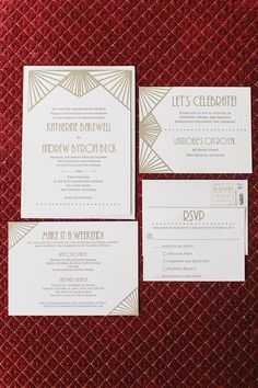 art deco wedding invitation | Greer G Photography | Glamour & Grace