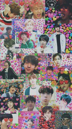 Image in Bts wallpapers🍥 collection by D A H I . Bts Jin, Bts Got7, Bts Taehyung, Seokjin, Bts Lockscreen, Foto Bts, Animes Wallpapers, Cute Wallpapers, Bts Emoji