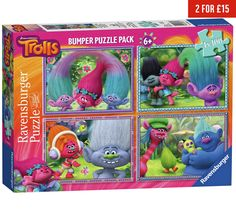 Buy Ravensburger Trolls 100 Piece Puzzle - 4 Pack at Argos.co.uk, visit Argos.co.uk to shop online for 2 for 15 pounds on Toys, Toys