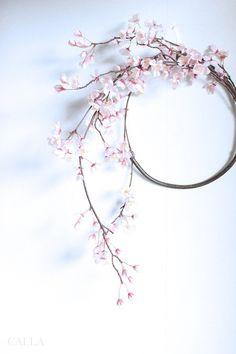 桜のリースをお作りする工程で、あまりにこのさり気なさが美しく手を加えずにそのままリースに仕上げました。楚々とした佇まいの中に曲線美や陰影がしっとりと日本の美を感じさせる作品ができました。しだれ桜の美しさを最大限引き出したスプリングリースです。1つ1つハンドメイドでお作りしていますので、枝の向きなど変わってくる場合がございますのでご了承くださいませ。size 45㎝×48㎝ リース部分の円径 22㎝素材 アーティフィシャルフラワーリースbox入りギフトラッピングはboxにリボンをおかけしてご用意致します♡もう少し華やかな桜リースを、、という方はSakura&Orchid Wreathをご覧ください♪『春ハンドメイド2017』『桜ハンドメイド2017』#Creemaポイント10倍