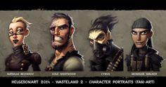 ArtStation - Wasteland 2 - Character Portraits Set 02 - Color, Johannes Helgeson