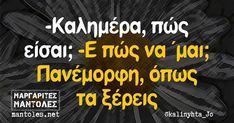 Good Morning Photos, Greek Quotes, Life Organization, Stupid Funny Memes, True Words, Just For Laughs, Funny Photos, Have Fun, Jokes