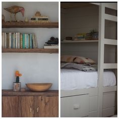 Bunk beds with built in storage drawers. Jersey-Ice-Cream-Co-Catskills-guesthouse-Remodelista-14