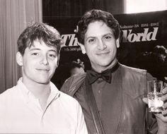 Matthew Broderick and Harvey Fierstein - 1983 Theater World Awards winners