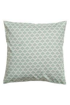 Husă de pernă cu motive - Verde/cu motive - HOME Yellow Pattern, Pink Patterns, H&m Home, Modern Farmhouse Decor, Antique Books, Teal Green, Cushion Covers, Cotton Fabric, Woven Cotton