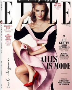 Ymre Stiekema  Elle Magazine Cover [Netherlands] (September 2013)  Highlight Description Ymre Stiekema - Elle Magazine Cover (September 2013)