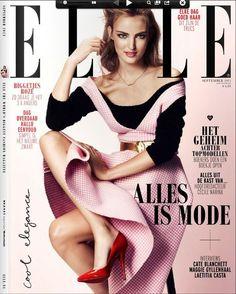 Ymre Stiekema  Elle Magazine Cover [Netherlands] (September 2013)