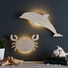 Crab Children's Wall Light   Lights4fun.co.uk Ocean Baby Rooms, Ocean Themed Nursery, Ocean Bedroom, Sea Nursery, Childs Bedroom, Bedroom Themes, Nursery Themes, Nursery Ideas, Bedroom Ideas