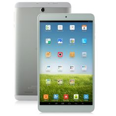 ONDA V820 WiFi (SILBER/WEISS) • Display: 8.0 Zoll IPS • CPU: Cortex A7 Quad Core 1GHz • RAM/ROM: 1GB/16GB • Android 4.2.2 OS • 2.0 Megapixel Kamera