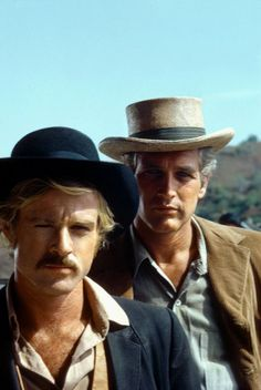 Robert Redford & Paul Newman as Butch Cassidy & Sundance Kid~Greatest bromance in film history! Hollywood Stars, Classic Hollywood, Old Hollywood, Sundance Kid, Steve Mcqueen, Old Movies, Great Movies, I Movie, Movie Stars