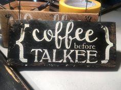 Rustic Pallet Wall Art  Coffee Before Talkee  Wood Wall Sign