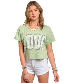 All You Need Is Love Top in Mint. Summer Fashion 2015. www.psiloveyoumoreboutique.com
