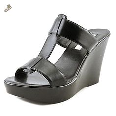 INC International Concepts Womens Paciee Open Toe Casual Wedged Sandals, Black, Size 7.5 - Inc international concepts pumps for women (*Amazon Partner-Link)