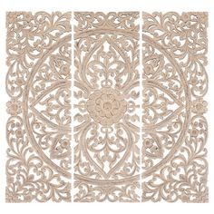 Three decorative wall panels.Product: 3 Piece wall décor set Construction Material: Wood Color: A...