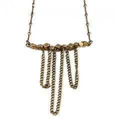 The Cross Creek Necklace in Brass