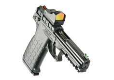 The PMR-30 is a lightweight, full-size pistol chambered for the flat-shooting .22 Magnum cartridge (.22WMR). It uses the double stack magazine of a new design that holds 30 rounds and fits completely in the grip of the pistol. The light, crisp trigger pull and fiber optic sights make the PMR-30 ideal for target shooting and hunting small game.