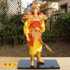 32cm Tall Ancient Chinese Traditional Commander Handmade Collectible Warrior-26