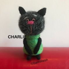 Needle Felted Soft Sculpture Gifts by on Etsy Needle Felted Cat, Needle Felted Animals, Felt Animals, Unusual Animals, Colorful Animals, Cat Lover Gifts, Cat Lovers, Felt Gifts, Quirky Gifts