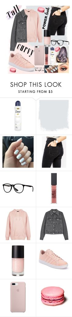 """""""Untitled #273"""" by stefani-sengelieva ❤ liked on Polyvore featuring Dove, ASOS, Ray-Ban, Maybelline, New Look, Givenchy, adidas and powerlook"""