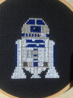 Love Star Wars? Love R2D2? Show your love by stitching yourself a little robot to show your love!  This PDF download includes pattern and colour codes for DMC threads, designed by myself.  Instant download!  I recommend using 16 count black Aida fabric, as this will fit nicely into a 4 inch hoop.