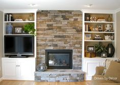 Fireplace with Built in Bookshelves | Finished+built-in+bookcases+and+fireplace+watermarked.jpg just in cherry