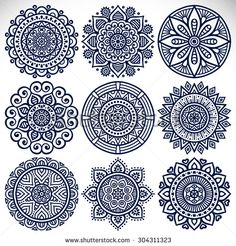 Mandalas. Vintage decorative elements. Oriental pattern, vector illustration. Islam, Arabic, Indian, turkish, pakistan, chinese, ottoman motifs - stock vector