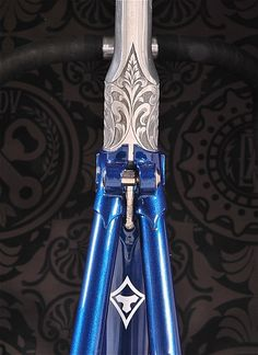 beautiful and strange bicycles Tommasini with engraved seatpost