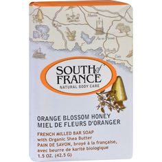 South of France Bar Soap - Orange Blossom Honey - Travel - 1.5 oz - Case of 12 - Now take it with you! Our luxuriously lathering all-vegetable soap is triple-milled in the Marseille tradition for a pampering cleansing experience. Coconut Oil and sustainable Palm Oil create a creamy lather; natural Glycerin combines with organic Shea butter to leave your skin soft and deeply moisturized. Infused with the aroma of freshly-made Proveneal honey enriched with the essence of orange blossoms Mass…