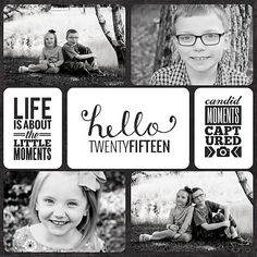 Layout: Project Life 2015 Title Page                                                                                                                                                      More