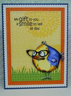 DTGD My Gift To You by Laurene - Cards and Paper Crafts at Splitcoaststampers Crazy Bird, Crazy Dog, Crazy Cats, Crazy Animals, Dog Cards, Bird Cards, Tim Holtz Stamps, Animal Cards, Copics