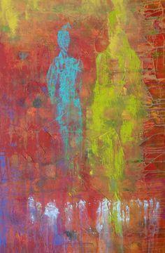 """For Sale: Soul Reflections 1 - #543 by Marcela Mateescu   $250   36""""w x 24""""h   Original Art   http://www.vangoart.co/buy/art/soul-reflections-1-543 @VangoArt"""