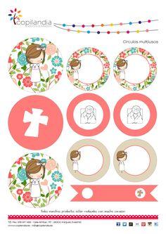 Kit Imprimible Comunion Flores por Kissthefrogeventos en Etsy
