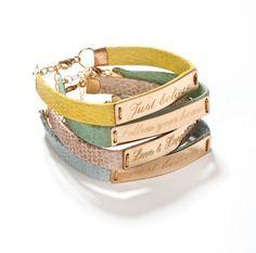 Personalized wish bracelet by Justbelievebybelinda on Etsy