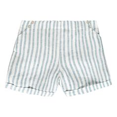 Striped Linen Shorts-product