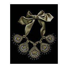 Olive Crystal Venom Necklace