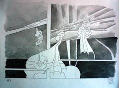 Dessin 2014 - Numéro 1 Février Graphite et aquarelle sur papier Canson CA grains 180 gr  25 x 32,5 cm