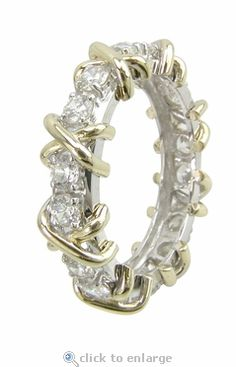 Hugs and Kisses X and O Cubic Zirconia Eternity Band
