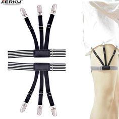 Apparel Accessories 1 Pair Adjustable Elastic Shirt Garters Mans Shirt Stays Holder Leg Suspenders Shirt Braces Gourd Buckle Shirt Garters Men's Accessories