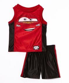 Look at this #zulilyfind! Red Cars Closeup Tank & Black Shorts - Infant & Toddler by Disney•Pixar Cars #zulilyfinds