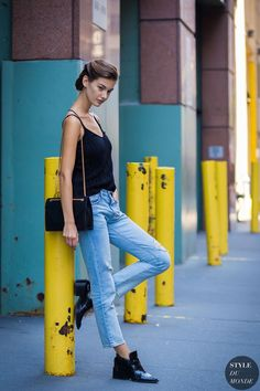 New York Fashion Week SS 2016 Street Style: Ophelie Guillermand...