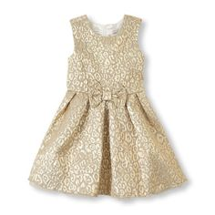 Gold is always classic and beautiful on little girls.  Dress from the Children's Place.