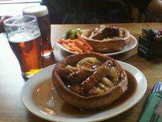 Yorkie with Mash & Bangers! Delicious