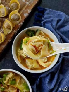 Easy pork wonton soup (猪肉馄饨)  | Red House Spice