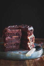 Milk and Honey: Chocolate Fudge and Salted Caramel Layer Cake