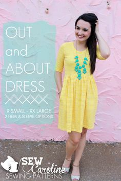 Our Favorite Indie Sewing Patterns + Giveaway: Out and About Dress | Sew Mama Sew | Sewing Patterns Free, Free Sewing, Clothing Patterns, Dress Patterns, Diy Sewing Projects, Sewing Hacks, Sewing Ideas, Diy Clothing, Sewing Clothes