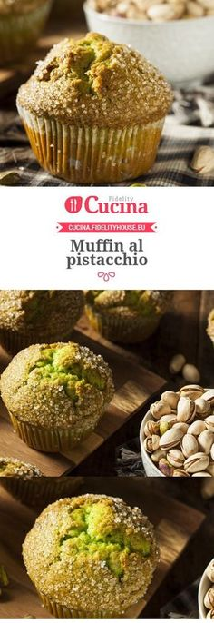 apfelrosen muffins Muffin al pistacchio Muffin al pistacchio Potato Appetizers, Appetizer Recipes, Dessert Recipes, Cupcakes, Nutella, Italy Food, Sweets Cake, Key Lime Pie, Bakery Cakes